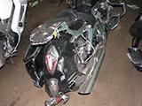 Повреждения мотоцикла Honda VTX 1300 S после ДТП вид с правого бока сзади